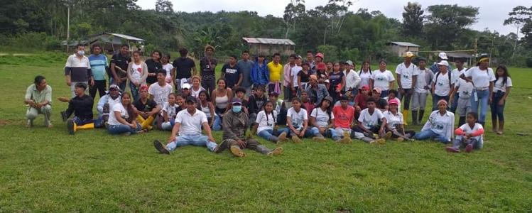 En la parroquia de San Gregorio, se realizó la novena jornada de reforestación de 1400 plantas nativas y 1600 plantas frutales.
