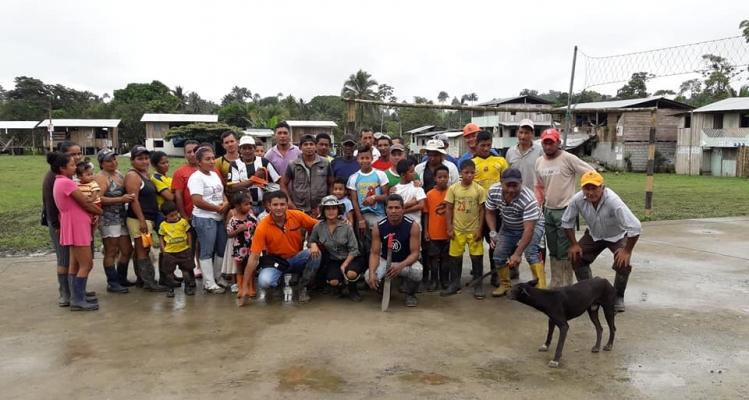 MINGA COMUNITARIA -  COMUNIDAD CANALÓN